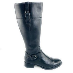 Ariat York Black Leather Riding Heeled Boots